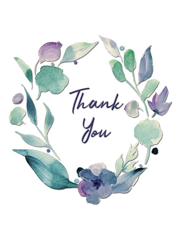 Thank You Greeting Card by Creatively Belle
