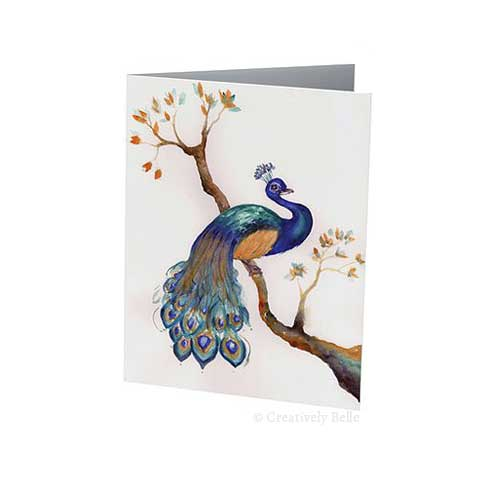 Magical Peacock Greeting Card by Creatively Belle