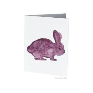 Pink Bunny Rabbit Greeting Card by Creatively Belle