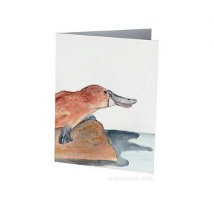 Australian Platypus Greeting Card