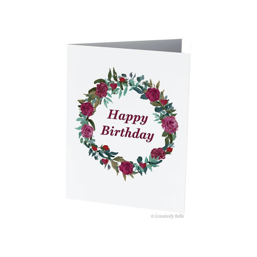 Say Happy Birthday with Roses Greeting Card by Creatively Belle