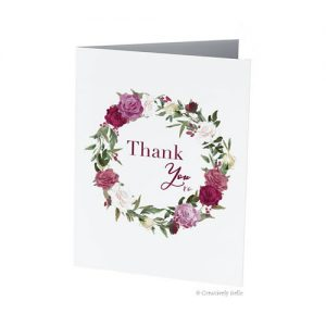 Roses Thank You xo Greeting Card by Creatively Belle