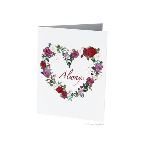 Engagement and wedding greeting cards messages sayings and quotes always roses heart greeting card by creatively belle m4hsunfo