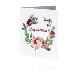 Watercolor Roses congrats greeting card