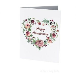 Watercolor Happy Anniversary Roses card