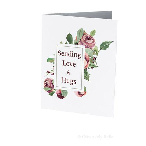 Sending Love and Hugs Greeting Card