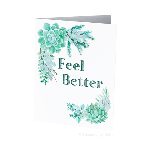 Feel Better Succulent Greeting Card
