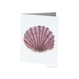 Pinks and Purples Watercolour Shell Greeting Card original painting by Belinda of Creatively Belle