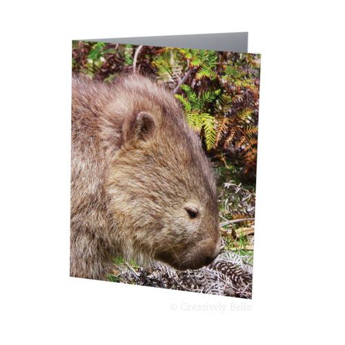 Tasmanian Wombat Australia Greeting Card Stationery