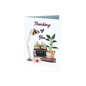 Book lovers Thinking of You greeting card