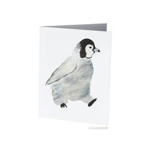 Walking Penguin Watercolour Greeting Card Printed in Australia