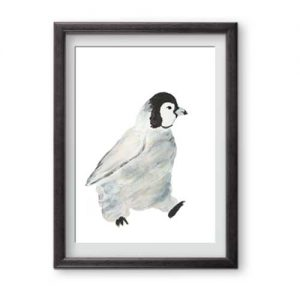 Walking Watercolour Penguin is ready for framing is perfect