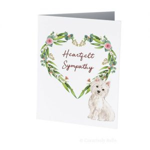 Pet dog Westie sympathy greeting card