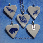 Australian animals heart necklaces