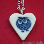 Joyful and cheeky owl necklace