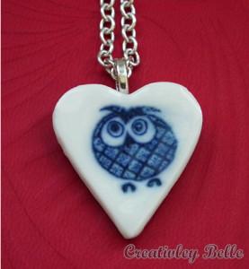 Joyful and cheeky owl necklace