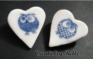 A pair of owls with their own patterns