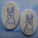 Bunny pins by Creatively Belle