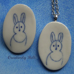 Beloved Bunny Necklace and Pin by Creatively Belle