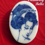Handcrafted Geisha pin
