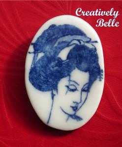 Handcrafted Geisha pin