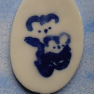 Cuddly Koalas in Blue and White Pin