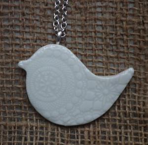 Creatively Belle peace bird long necklace