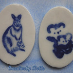 Kangaroo and Koala brooches by Creatively Belle
