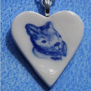 The Wombat Lord Tasman of the Gum Leaf Order heart necklace by Creatively Belle