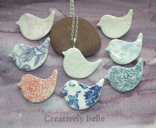 Peace Bird necklace and brooch collection ceramic jewellery by Creatively Belle at The Rocks Markets