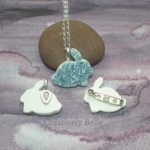 Bunny brooch and necklace backs by Creatively Belle