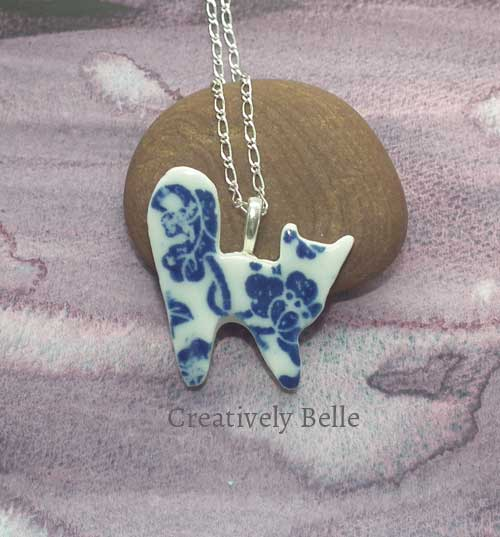 Studio Cat necklace ceramic jewellery by Creatively Belle at The Rocks Markets in Sydney