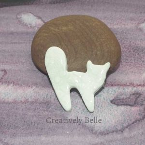 Studio Cat brooch ceramic jewellery by Creatively Belle at The Rocks Markets in Sydney