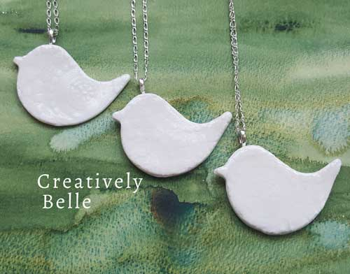 Handcrafted artisan ceramic necklaces by Creatively Belle