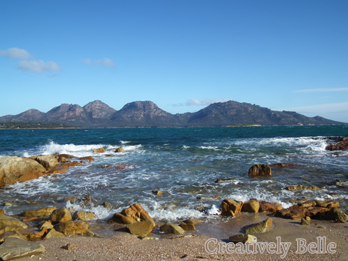 The view from Freers Beach at Shearwater after the Tasmanian Craft Fair