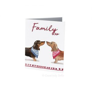 Sausage Dog Family card for dachshund lovers by Creatively Belle