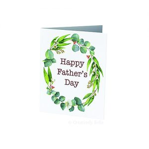 Father's Day Greeting Card with Gum Blossoms