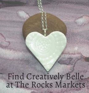Find Creatively Belle at The Rocks Markets this Weekend in the Heart of Heritage Sydney