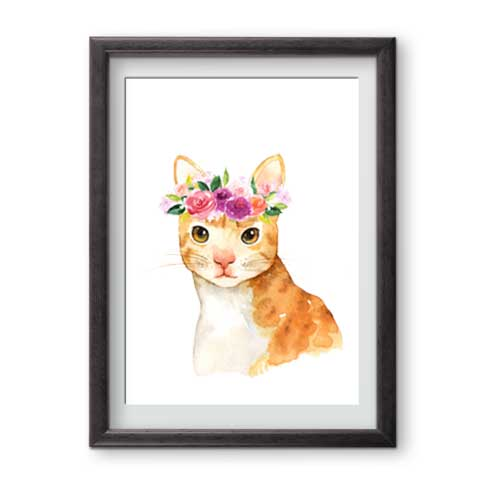 This handsome fella is ready for framing and is perfect for cat lovers