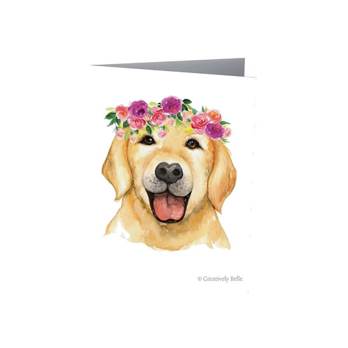 Floral labrador greeting card from Creatively Belle
