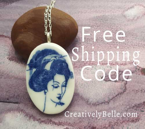 Creatively Belle free shipping codes are shared on Instragram, Twitter and Facebook