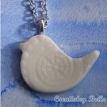 Handcrafted Southern Ice Porcelain bird necklace