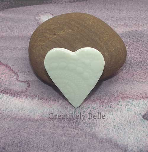 Heart brooch small handmade ceramic jewellery by Creatively Belle at The Rocks Markets