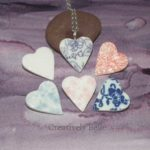 Heart colours - handmade ceramic jewellery by Creatively Belle