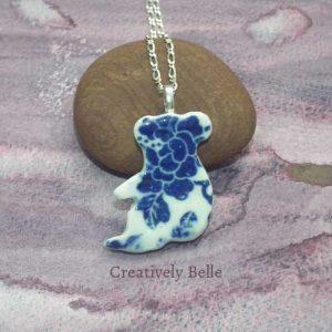 Australian made Koala necklace handmade ceramic jewellery by Belinda of Creatively Belle