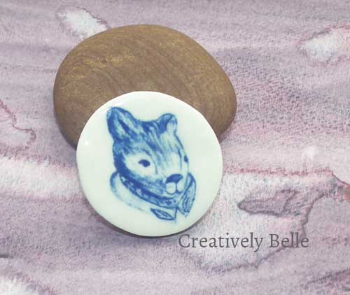 Lord Tasman of the Gumleaf Order wombat brooch in the Creatively Belle online shop Painted by Belinda Stinson