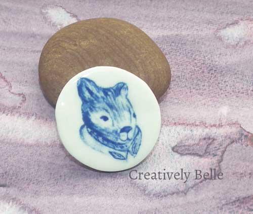 Lord Tasman of the Gumleaf Order wombat brooch in the Creatively Belle online shop Painted by Belinda Stinson