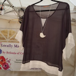 The popular white bird long necklace by Creatively Belle as seen at The Rocks Markets