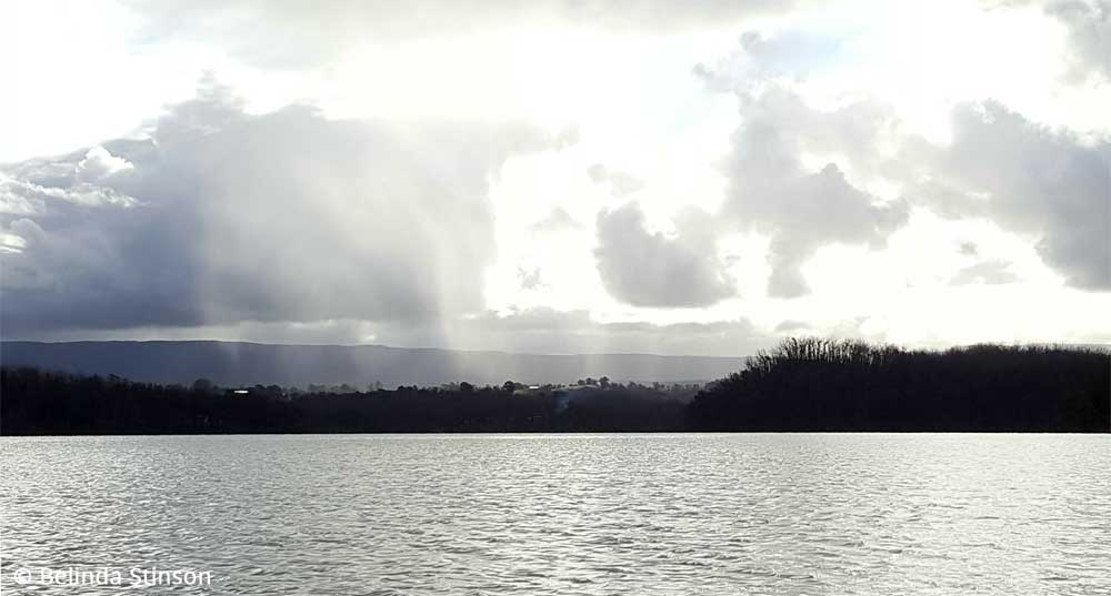 Rain coming in over the ranges