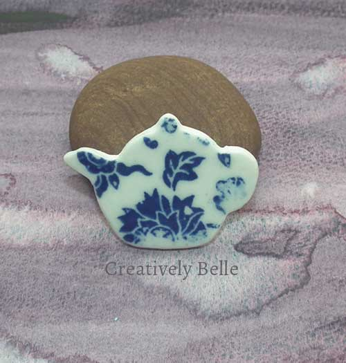 Tea Pot brooch ceramic jewellery by Creatively Belle at The Rocks Markets in Sydney